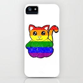 Distressed Rainbow Cat iPhone Case