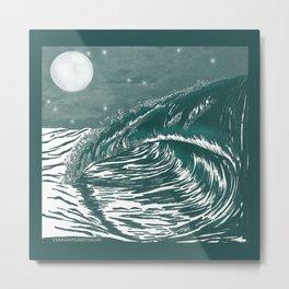 Dream Wave Zentangle Metal Print