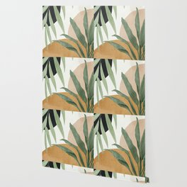 Abstract Art Tropical Leaves 4 Wallpaper