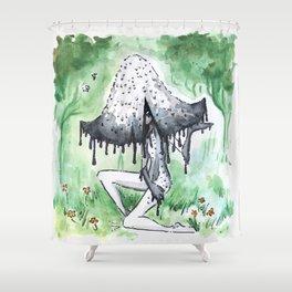 Empire of Mushrooms: Coprinopsis Atramentaria Shower Curtain