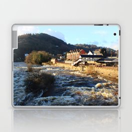 Llangollen Railway Station by the River Dee, Wales Laptop & iPad Skin