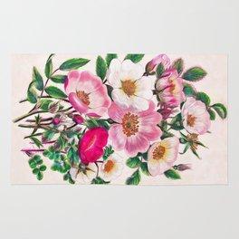 Wild roses Rug