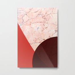 peachy marble (inside) Metal Print