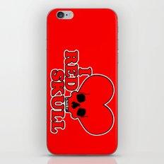 I H E A R T R E D S K U L L iPhone & iPod Skin