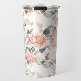 Delicate roses. Watercolor Travel Mug