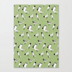 Bird Print - Olive Green Canvas Print