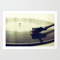 record Art Prints featuring Record player by josemanuelerre