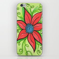 Poinsettia iPhone & iPod Skin