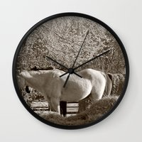 country Wall Clocks featuring Country by Christy Leigh