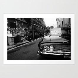 Automobile, Newtown Art Print