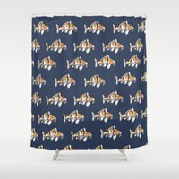 study Shower Curtains featuring Koi Study by Ken Coleman