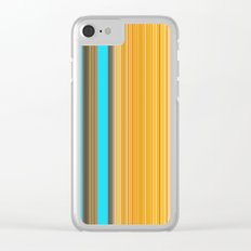 Sablo Lio Blue Yellow Clear iPhone Case