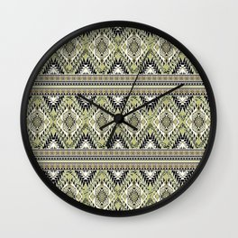safari aztec Wall Clock
