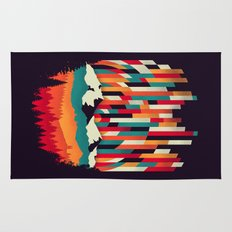 Sunset in Vertical Multicolor Rug