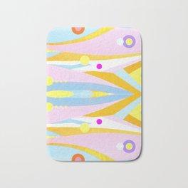 Abstract Pastel Pattern Bath Mat