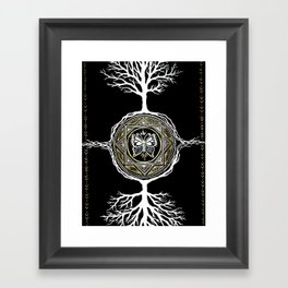 Butterfly Tree Mandala Framed Art Print