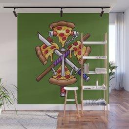 Ninja Pizza Wall Mural