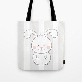 Cute Rabbit Illustration, Nursery Decor Tote Bag