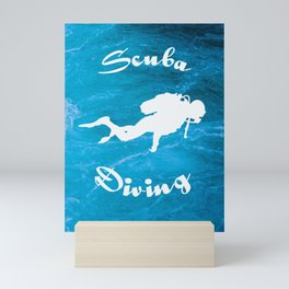 Scuba Diving Blue Waters Mini Art Print