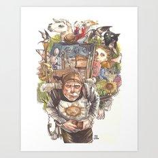 Patsy's Back Art Print