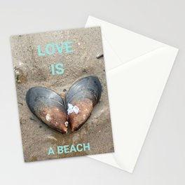 Love is a Beach Stationery Cards