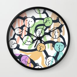 Connected Dreamers Wall Clock