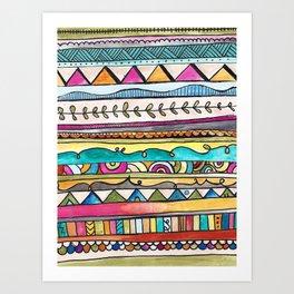 Rebekah Tribal Design Art Print
