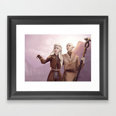 Dragon Age - Finding Skyhold - Solas and Inquisitor Framed Art Print