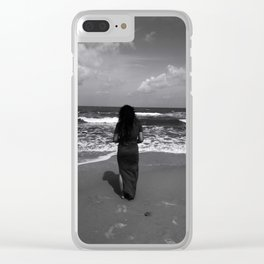Calmness, The Waves and I Clear iPhone Case
