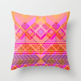 Geo-lucha Throw Pillow