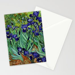 Van Gogh Purple Irises at St. Remy Stationery Cards