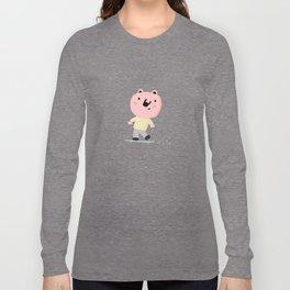 Bear Skater Long Sleeve T-shirt