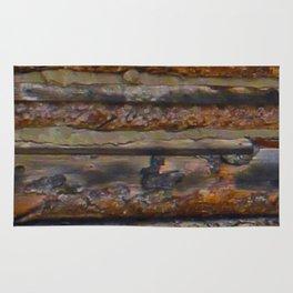 Aged Log Cabin rustic decor Rug