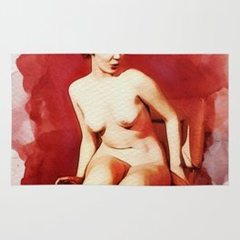 Vintage Pinup by Frank Falcon Rug