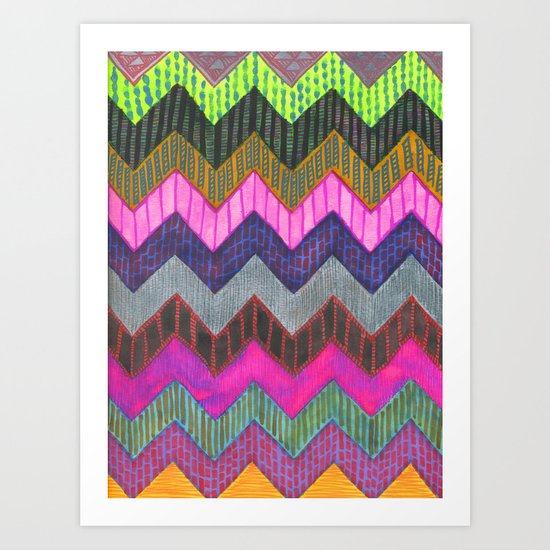 PATTERN {Chevron 002} Art Print