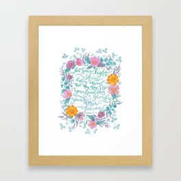 Let Your Light Shine- Matthew 5:16 Framed Art Print
