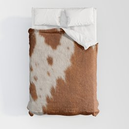 Cowhide, Cow Skin Pattern, Farmhouse Decor Comforters