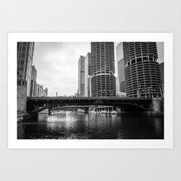 Chicago Riverwalk - State Street Art Print