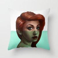 ariel Throw Pillows featuring Ariel by RachelHam