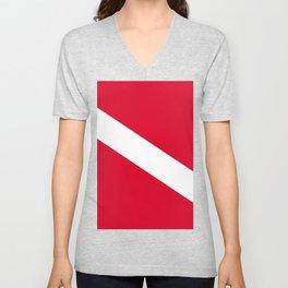 Diver Flag Unisex V-Neck