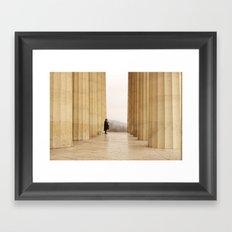 The temple Framed Art Print