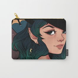 Floral Bat Witch Carry-All Pouch