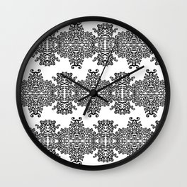 black and white vintage pattern III Wall Clock