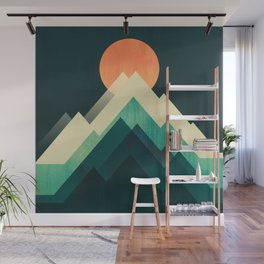 Ablaze on cold mountain Wall Mural