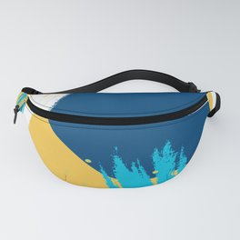 Bright colors modern abstract shapes design Fanny Pack