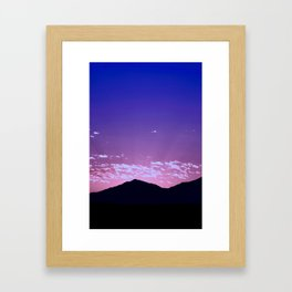 SW Mountain Sunrise - I Framed Art Print