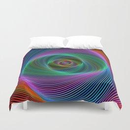 Psychedelic Spiral Stripes Duvet Cover