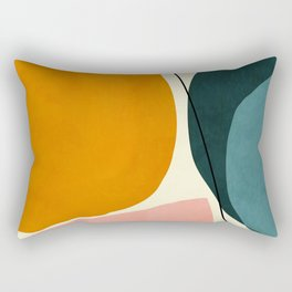 shapes geometric minimal painting abstract Rectangular Pillow