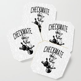 5e26d648b Checkmate Punch Funny Boxing Chess Coaster