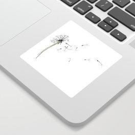 dandelion on the fish - flowers in the breeze Sticker